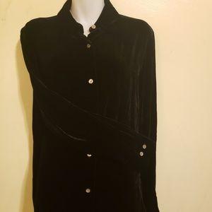 Ann Taylor Velour blouse